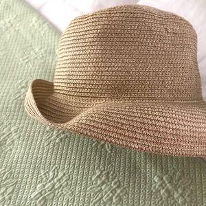Vintage London Fog Paper Hat with adjustable brim